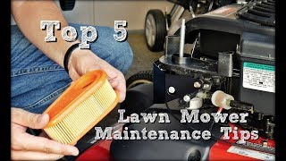 Top 5 Lawn Mower Maintenance Tips