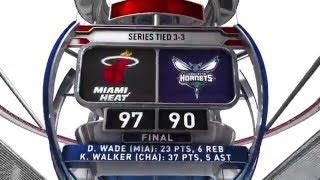 Miami Heat vs Charlotte Hornets - April 29, 2016