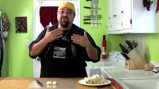 Football Finger Foods 2 - Hot chicken sandwich bites / 6 layer dip
