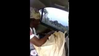 Jamaican old woman cursing taxi driver
