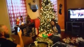 Chloe got a surprise hedgehog for Christmas
