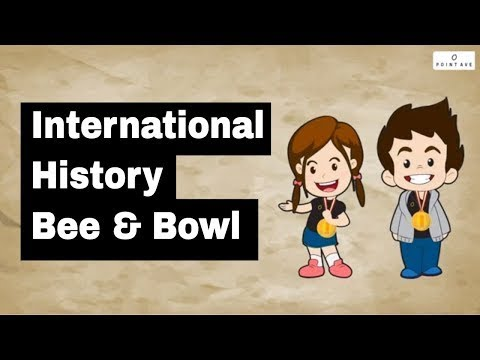 International History Bee & Bowl Introduction