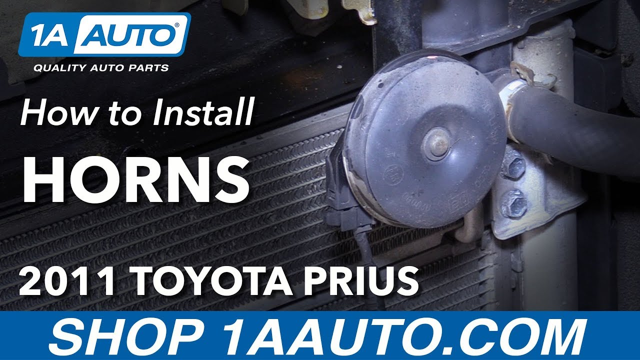 How To Install Replace Horns 2011 Toyota Prius Youtube Amc Gremlin Wiring Diagram