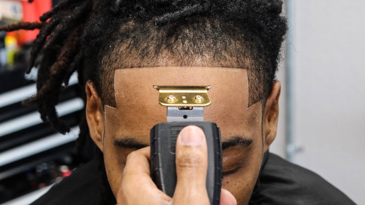 haircut tutorial dread taper crispy line up youtube