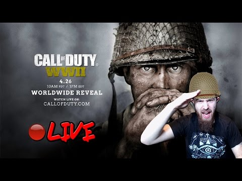 🔴[LIVE] Call of Duty: WWII Official Live World Reveal REACTION!