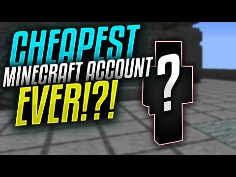 The CHEAPEST Minecraft Account EVER!!!!