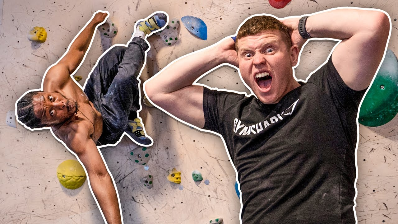 I TRIED ROCK CLIMBING WITH AyyOnline image