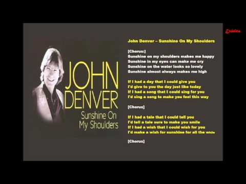 Karaokê - John Denver - Sunshine On My Shoulders