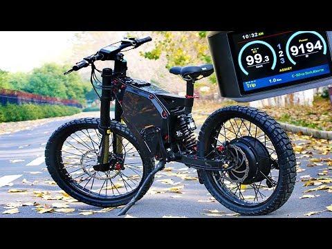 MOTO ELECTRICA CASERA 100km/h ! Montar Una Moto A Piezas (Mitad Bicicleta De Enduro)