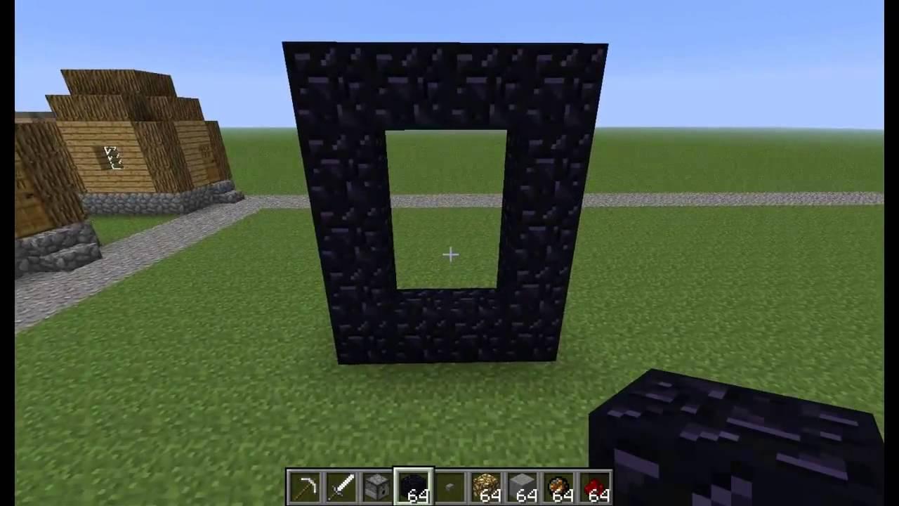 Как в minecraft сделать портал в рай