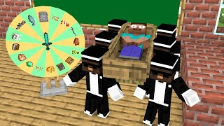 Monster School : Lucky Wheel With Coffin Dane Version - Funny Minecraft Animation