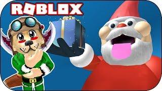 ROBLOX - What's inside Santa Claus? - Escape Santa Obby