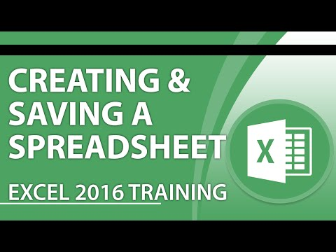Excel 2016 Tutorial: How to Create and Save a Spreadsheet Using Excel 2016