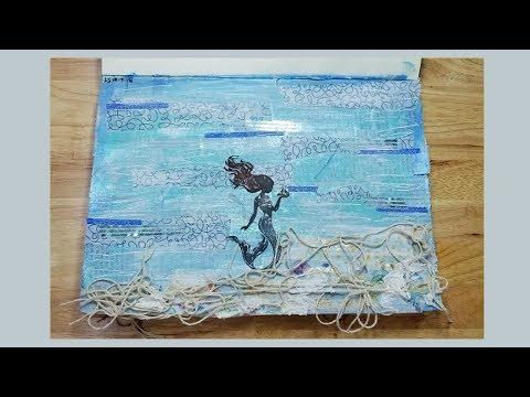 Mermaid Art Journal Page