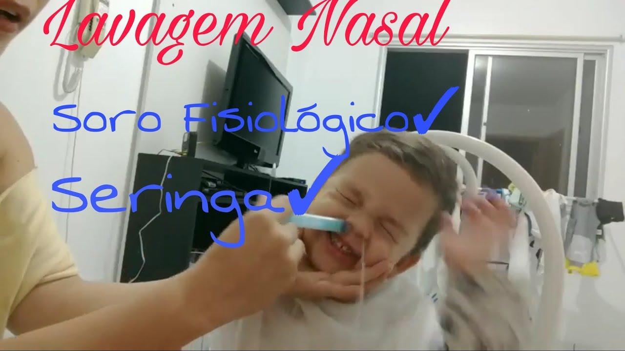 lavagem nasal com soro