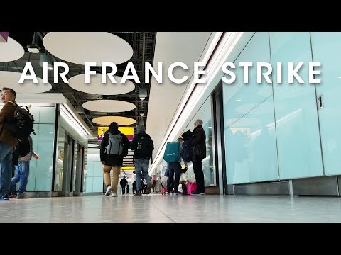 Air France Strike and We Lose a Day in Edinburgh