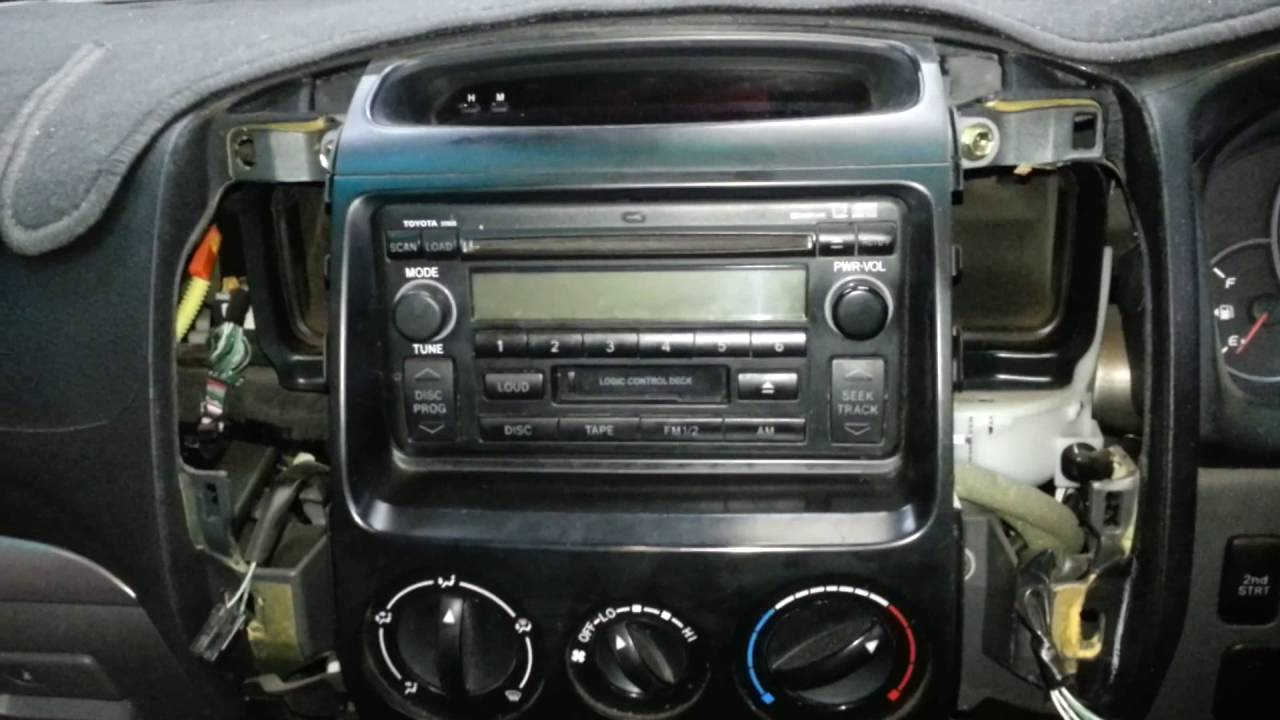 How To Remove The Radio From A Toyota Prado Youtube