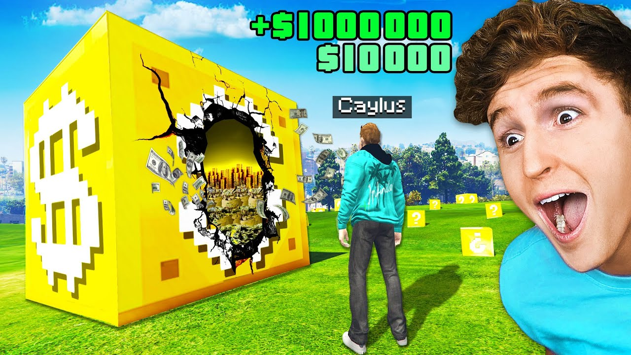 $1 vs $1,000,000 LUCKY BLOCKS In GTA 5.. (Mods)