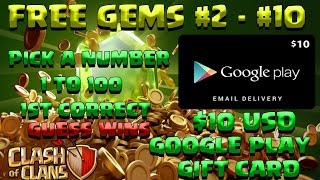 Clash Of Clans FREE GEMS GIVEAWAY COMPETITION NO HACK THANK YOU SPECIAL#2 OF 10