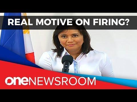 Robredo questions real motive behind her firing