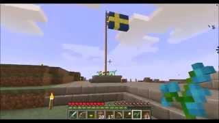 Minecraft - Sveriges Nationaldag 2014 med anna_cool1