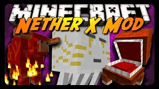 Minecraft Mod Review: THE NETHER X MOD! (Ghast Queen, New Mobs & More!)