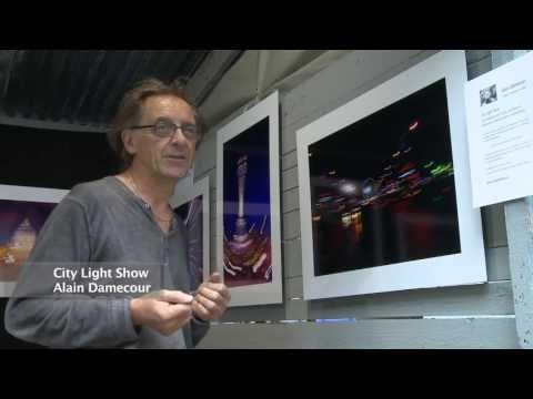 Alain Damecour, exposition photos, octobre 2013, film de Thierry Damilano