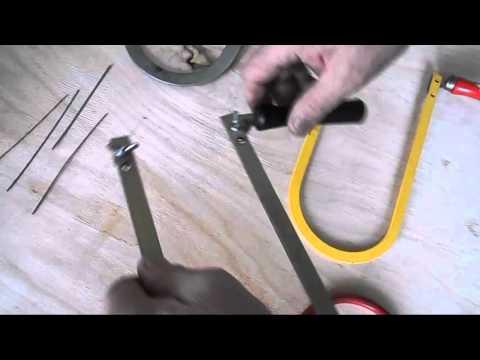 Как вставить пилку в ручной лобзик