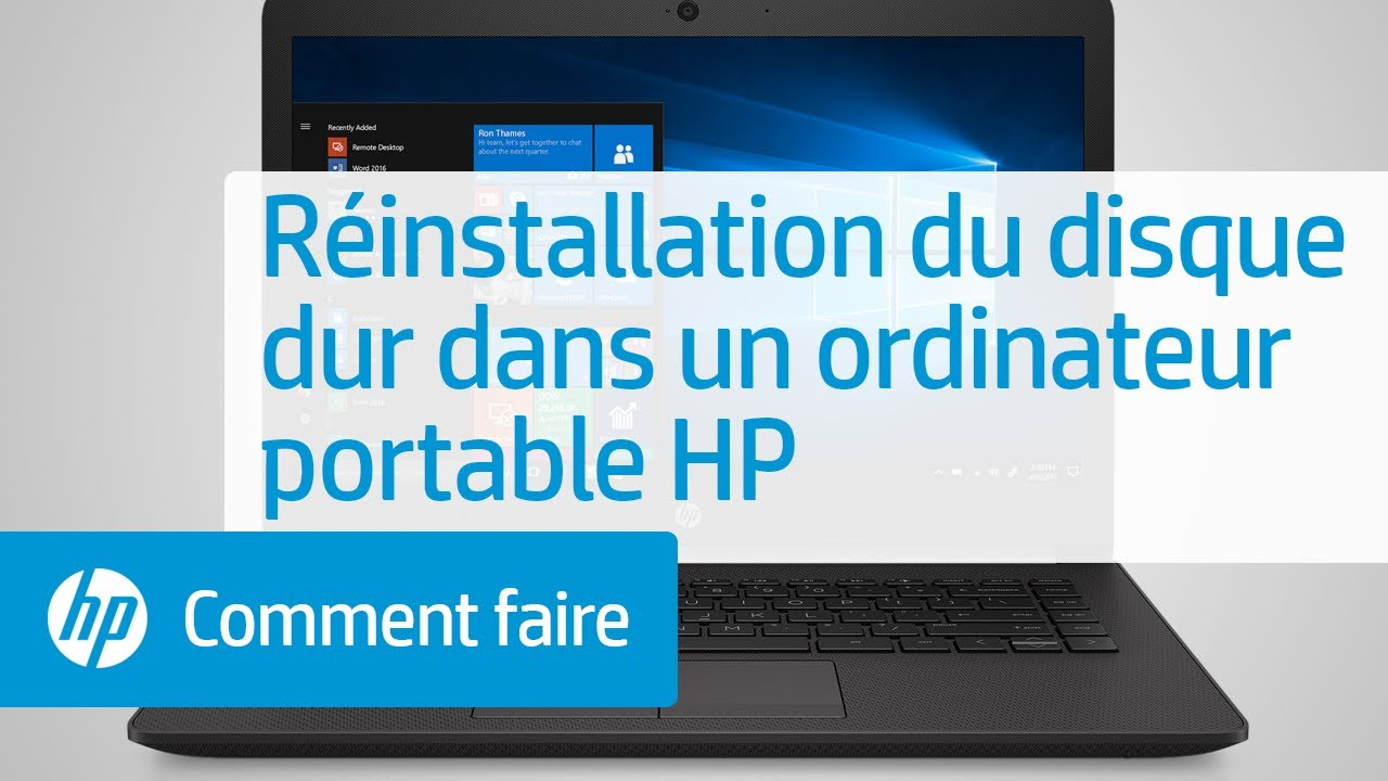 r installation du disque dur dans un ordinateur portable hp youtube. Black Bedroom Furniture Sets. Home Design Ideas