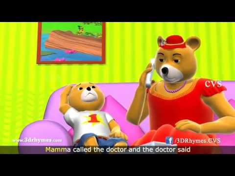 Ten Little Teddy Bears Jumping on the Bed Song   3D Animation Nursery Rhymes for Children   YouTube