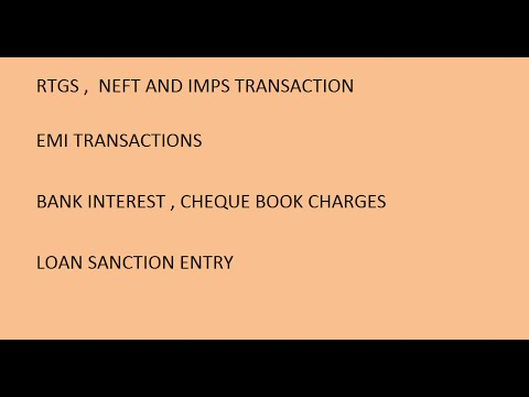 RTGS NEFT AND IMPS entries in tally erp9