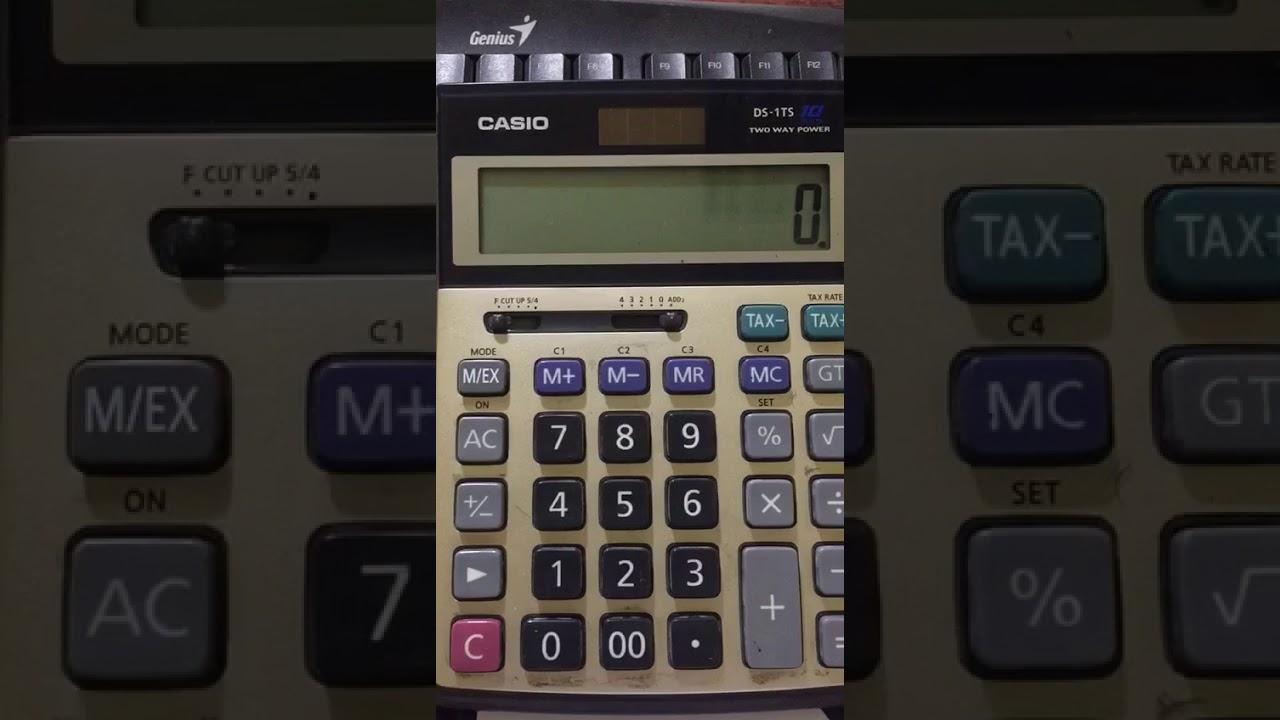طريقة إضافة زر الضريبة الى الآلة الحاسبة Youtube