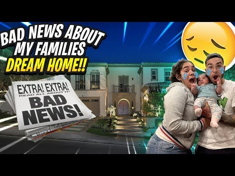 WE GOT BAD NEWS ABOUT OUR DREAM HOME . . .  ( YOU WONT BELIEVE THIS )| BRAAP VLOGS