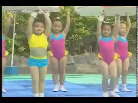 Bé nhảy Aerobic thiếu nhi  Aerobic