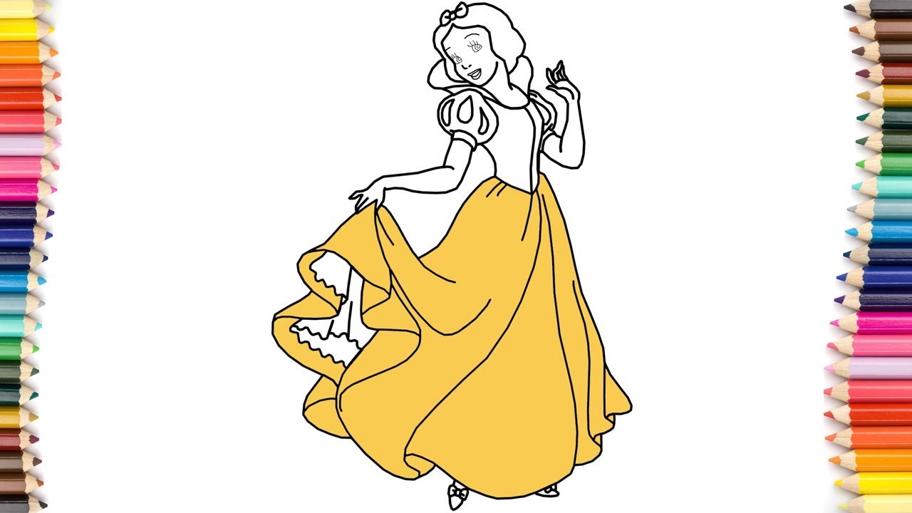 Perfect Coloring Pages Of Princesses In Disney Mold