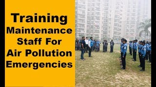 Security staff in Greater Noida gets tips to combat air pollution