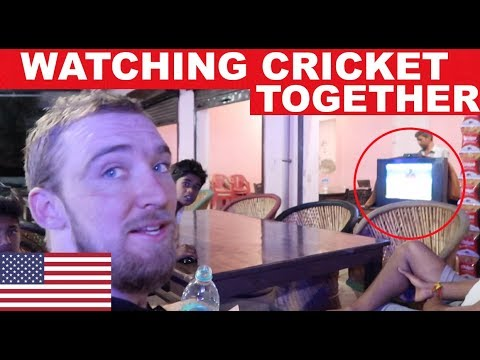 """American visits India """"Do all Indians love Cricket?"""""""
