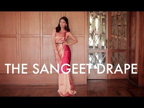 The Saree Series I The Art of Draping I The Sangeet Drape I #BringingSareeBack