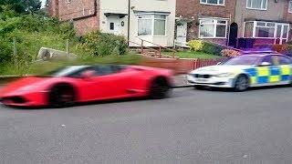 Le policier pensait pouvoir arrêter la Lamborghini... (ᗒ ͟ʖᗕ)