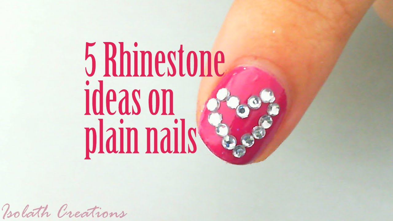 5 Cute Rhinestone Ideas You Can Use On Plain Nails