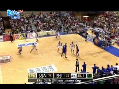 Jones Cup 2012 Philippines vs USA