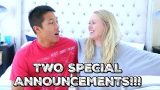 TWO SPECIAL ANNOUNCEMENTS!!!