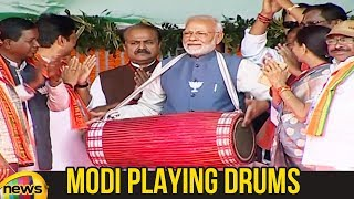 PM Modi Plays Traditional Drum During Rally in Ambikapur | Modi Latest News | #ModiNews | Mango News