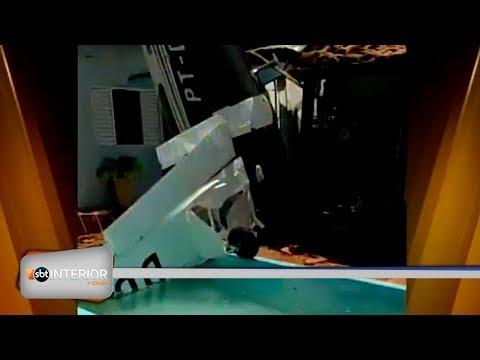 Relatório preliminar aponta que avião caiu em Rio Preto por falta de combustível