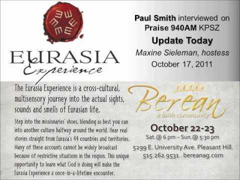 Paul Smith - 10-17-11 Eurasia Experience interview