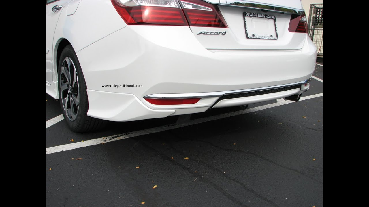 Episode 272 2016 Honda Accord Sedan Rear Underbody Spoiler Installation