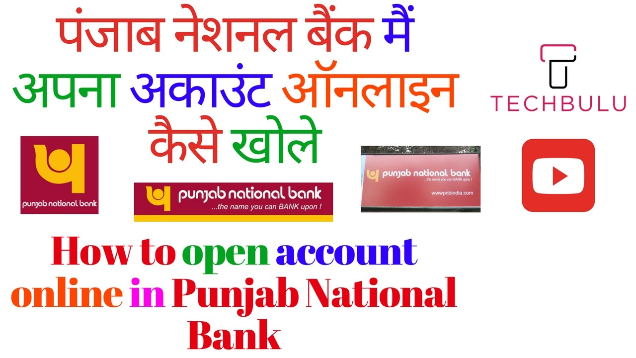 How To Open Bank Account In Pnb Online Step By Step Procedure Live Demo In Hindi Youtube