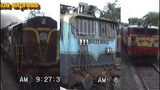 WAM4 Loco Ride from Manmad to Bhusaval - July 1992