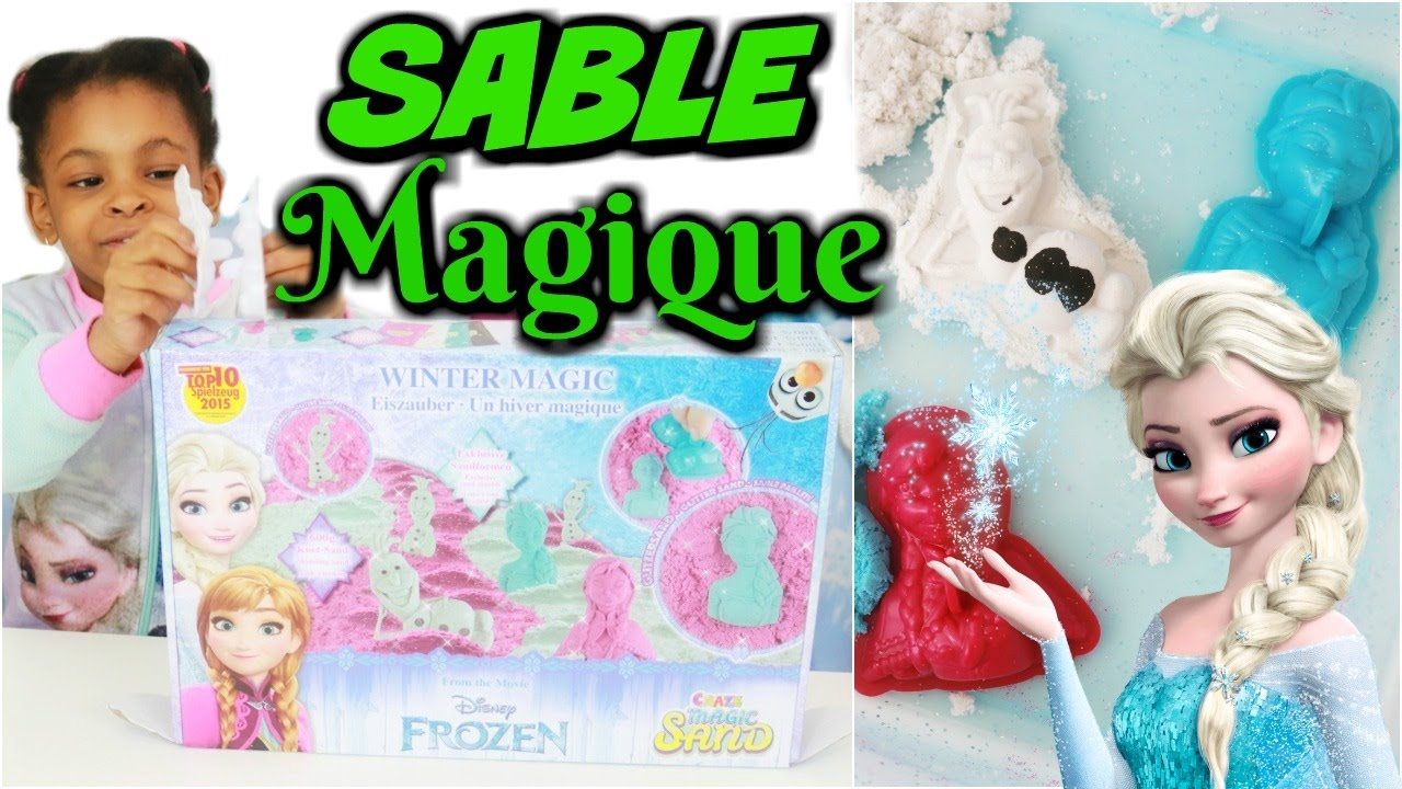 sable magique reine des neiges frozen super sand jouet disney youtube. Black Bedroom Furniture Sets. Home Design Ideas