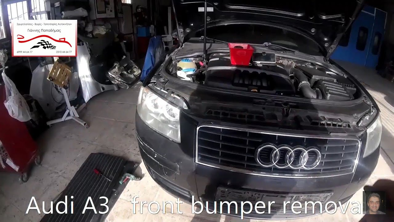 Audi A3 2003-2012 front bumper removal